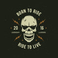 Vintage Motorcycle T-shirt Graphics. Born To Ride. Ride To Live. Vector Illustration. Royalty Free Stock Image - 71094076