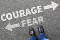Courage And Fear Risk Safety Future Strength Strong Business Man Stock Images - 71097454