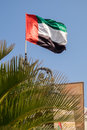 UAE Flag Blowing In The Wind. Stock Images - 71108334