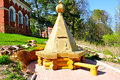 Restored Monastery Wooden Well On The Territory Of Peryn Skete Near Veliky Novgorod, Russia. Stock Photography - 71130322