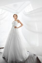 Brides Beauty. Young Woman In Wedding Dress Indoors Stock Photography - 71131682