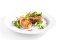 Cutlet With Buckwheat Stock Photos - 71134503
