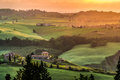 VAL D ORCIA, TUSCANY/ITALY - MAY 21 : Farmland In Val D Orcia Tu Royalty Free Stock Images - 71147369
