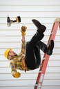 Worker Falling From Ladder Stock Image - 71158361