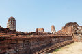 Ruin In Ayutthaya Royalty Free Stock Photo - 71158875