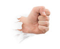 Fist Punching Paper Stock Photos - 71163073