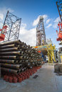 Equipment For Oil And Gas Completion At  Drilling RIG Royalty Free Stock Photography - 71175127