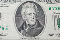 7th President Of The United States, Andrew Jackson Portrait On Twenty Dollar Bill Royalty Free Stock Photography - 71176457