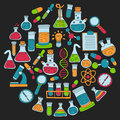 Chemistry Pharmacology Natural Sciences Vector Doodle Set Stock Photos - 71187133