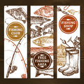 Fishing Vertical Banners Set Stock Photos - 71192583