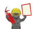 Firefighter Cat Is Ready To Work Royalty Free Stock Image - 71198546