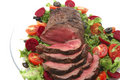 Roast Sliced Red Meat Stock Photography - 7128992