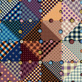 Vector Abstract Seamless Patchwork Pattern From Riangles Royalty Free Stock Images - 71210689