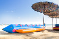 Banana Boat Parked Royalty Free Stock Image - 71212036