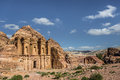 Side View Of Ad Deir (aka The Monastery Or El Deir) In The Ancient City Of Petra (Jordan) Stock Images - 71215994