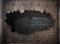 Torn Hole In Rusty Metal Steam Punk Background Royalty Free Stock Photos - 71270348