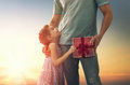 Father And His Daughter Royalty Free Stock Photography - 71285787
