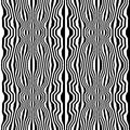 Vector Hipster Abstract Geometry Trippy Pattern With Stripes , Black And White Seamless Geometric Background Stock Photo - 71299410