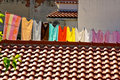 Fresh Laundry Hanging On A Clothesline In City Stock Photography - 7131902