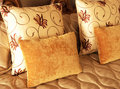 Beautiful Cushions On Bed Stock Photography - 7132612