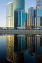 Skyscrapers At Sunset And Reflection Stock Images - 7134124