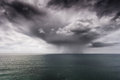 Rain And Stormy Cloud Over Sea Royalty Free Stock Image - 71312246