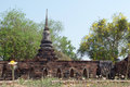 Ruins Of Ancient Temple, Ayutthaya Stock Image - 71355231