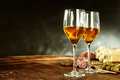 Two Glasses Of Sherry With Tasty Tapas Royalty Free Stock Photo - 71364015