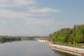 Sozh River Embankment Near The Palace And Park Ensemble In Gomel, Belarus. Stock Photo - 71366220
