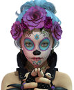 Little Sugar Skull Girl, 3d CG CA Royalty Free Stock Images - 71369149
