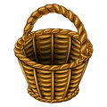 Wicker Basket Made Of Wicker Royalty Free Stock Images - 71376569