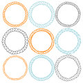 Set Of 9 Decorative Circle Border Frames. Stock Images - 71384814