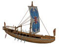 Ancient Egyptian Canal Boat - 3D Render Stock Photos - 71395173