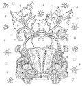 Hand Drawn Doodle Outline Holiday Car Royalty Free Stock Photos - 71402688