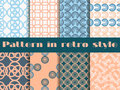 Set Of Seamless Patterns In Art Deco Style. Seamless Background. Royalty Free Stock Photography - 71412617