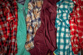 Lot Of Plaid Shirts Stock Images - 71425664