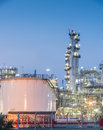 Oil Refinery Factory At Sunset Royalty Free Stock Images - 71448669