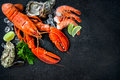Shellfish Plate Of Crustacean Seafood Royalty Free Stock Image - 71458176