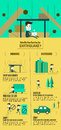 Earthquake Escape Infographic. How Do You Servive An Earthquake. Royalty Free Stock Photography - 71461937
