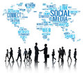 Social Media Internet Connection Global Communications Networkin Royalty Free Stock Photo - 71494185