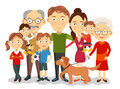 Big And Happy Family Portrait With Children, Parents, Grandparents Vector Royalty Free Stock Images - 71498469