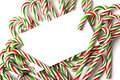 Chrismas Candy Cane Notecard Or Invitation Royalty Free Stock Image - 7158356