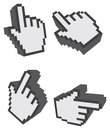3D One Finger Click Web Icon Vector Illustration Stock Photography - 71500352