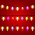 Christmas Lights - Electric Bulbs Strung Stock Photo - 71509710