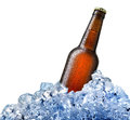 Bottle Of Beer In Ice Stock Photo - 71512880