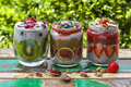 Chia Seed Pudding Royalty Free Stock Photo - 71526885