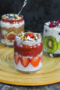 Chia Seed Pudding Stock Images - 71528594