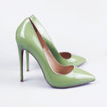 Green Women Shoes On White Background. Stock Image - 71529451