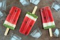 Homemade Watermelon Popsicles On A Vintage Metal Tray Royalty Free Stock Photos - 71538098