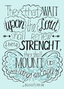 Lettering Bible Trust In The Lord Will Renew Their Strength... Stock Images - 71563714
